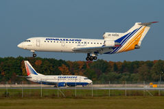 Donbassaero Airlines Yakovlev Yak-42 Stock Image