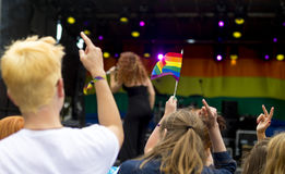 Doncaster dumy 19 Aug 2016 LGBT festiwal Obrazy Royalty Free