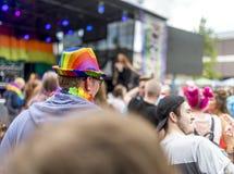 Doncaster dumy 19 Aug 2017 LGBT festiwal Zdjęcia Royalty Free