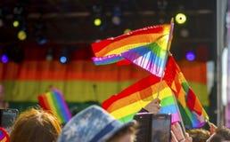 Doncaster dumy 19 Aug 2017 LGBT festiwal obrazy royalty free