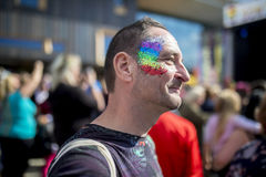 Doncaster dumy 19 Aug 2017 LGBT festiwal Fotografia Royalty Free