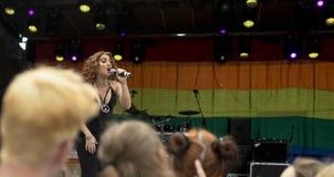 Doncaster dumy 19 Aug 2017 LGBT festiwal, Donna Ramsdale, Jess Obrazy Royalty Free