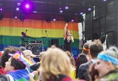 Doncaster dumy 19 Aug 2017 LGBT festiwal, Donna Ramsdale, Jess Fotografia Royalty Free