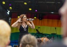 Doncaster dumy 19 Aug 2017 LGBT festiwal, Donna Ramsdale, Jess obrazy stock
