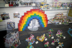 Doncaster dumy loga tęczy LGBT festiwal obrazy royalty free