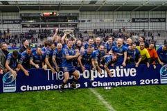 Doncaster RLFC feiern Gewinn 2012 Lizenzfreies Stockfoto
