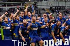 Doncaster RLFC feiern Gewinn 2012 Stockfotos