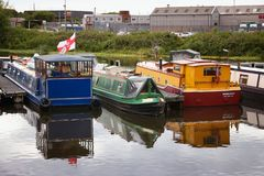 Doncaster houseboats Royalty Free Stock Photography
