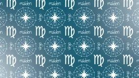 Doncella de la muestra de la astrología libre illustration