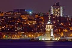 Doncella o torre de Leander en Estambul Imagen de archivo