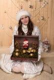 doncella sonriente de la nieve Imagenes de archivo