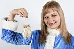 doncella sonriente de la nieve Imagen de archivo libre de regalías
