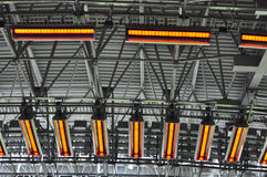 Dondass-Arena stadium heating system Stock Images