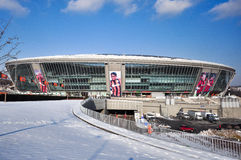 Dondass-Arena stadium in winter Royalty Free Stock Photography