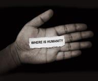 Donde está la humanidad fotos de archivo