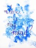 Donde está mi mente que pone letras al ejemplo libre illustration