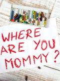 Donde está usted mamá Fotografía de archivo libre de regalías