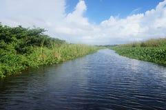 Donde hace el río vaya a Imágenes de archivo libres de regalías