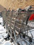 Donde los carros de compras van a morir Fotos de archivo