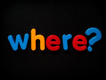 Donde pregunta Imagen de archivo