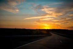Donde sube el sol Fotografía de archivo libre de regalías