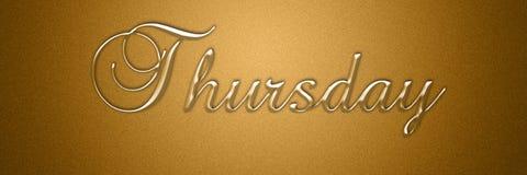 Donderdag dag van het de titel van de achtergrond weektekst ontwerp vector illustratie