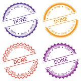 Done badge isolated on white background. Royalty Free Stock Photography