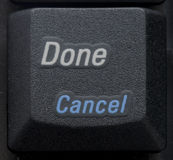 Done Cancel Button on Keyboard Stock Images