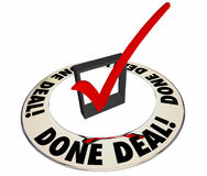 Done Deal Sale Closed Check Mark Box Royalty Free Stock Photography