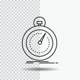 Done, fast, optimization, speed, sport Line Icon on Transparent Background. Black Icon Vector Illustration stock illustration