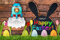 Done! happy easter concept Royalty Free Stock Photography