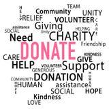 Done la donación Imagen de archivo libre de regalías