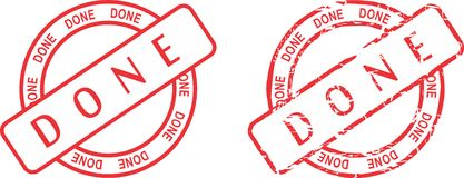 Done red stamp sticker Royalty Free Stock Images