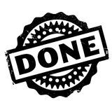 Done rubber stamp Stock Images