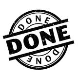 Done rubber stamp Royalty Free Stock Photography