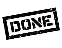 Done rubber stamp Royalty Free Stock Images