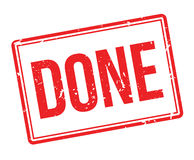 Done rubber stamp Stock Photos