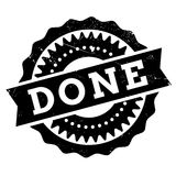 Done stamp rubber grunge Stock Image