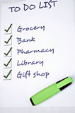 Done to do list. To do list with all checked Stock Photos