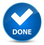 Done (validate icon) elegant blue round button Royalty Free Stock Images