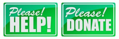 Done y dé por favor el verde Fotografía de archivo