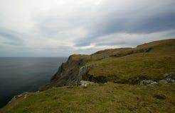 Donegal爱尔兰峭壁 免版税库存照片