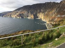 Mighty cliffs of Donegal royalty free stock photo