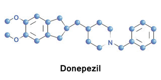 Donepezil treatment of Alzheimer Royalty Free Stock Images