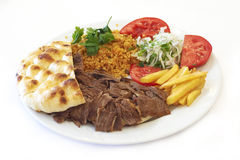 Doner. Turkish traditional food doner kebab stock photos