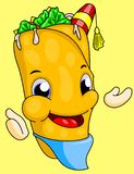 Doner cartoon character isolated funny royalty free illustration