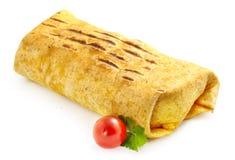 Doner cebab op wit Royalty-vrije Stock Fotografie