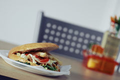 Doner kebab. On a table royalty free stock images