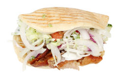 Doner kebab. Isolated over white background stock photos