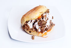 被隔绝的Doner kebab 库存照片